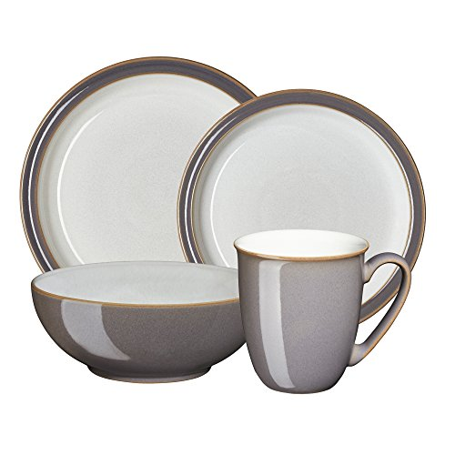Denby USA Blends Truffle/Canvas 4 Piece Set, Brown/Cream