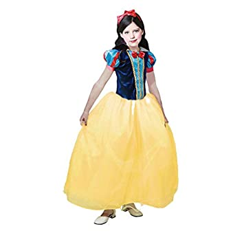 Partilandia Disfraz de Princesa Blancanieves niña Infantil para Carnaval (2-4 años)