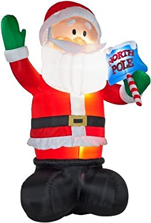 huge 16 ft airblown giant christmas inflatable colossal santa yard decoration by gemmys - Huge Inflatable Christmas Decorations