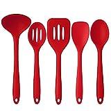Deik Silicone Kitchen Utensils Set, 5 piece of Premium Hygienic Non-stick Durable and High Temp Cooking Utensils XL