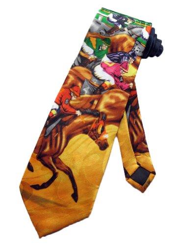 Steven Harris Mens Jockey Horse Race Necktie - Navy Blue - One Size Neck Tie