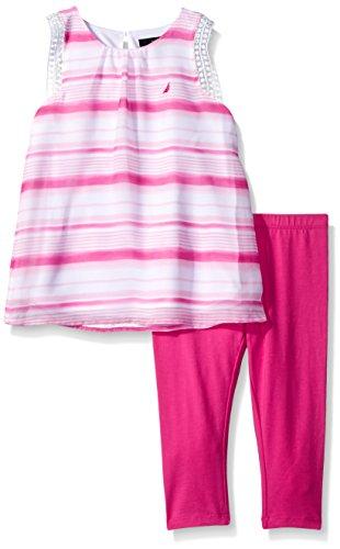 Nautica Girls Stripe Chiffon Legging
