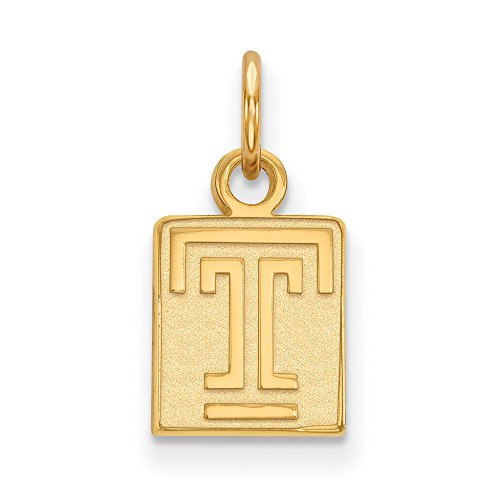 Temple Extra Small (3/8 Inch) Pendant (14k Yellow Gold) by LogoArt