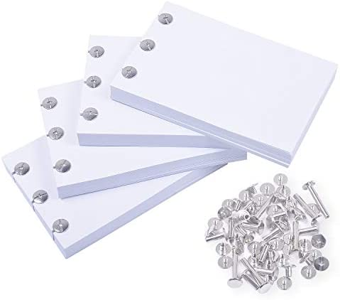 Rancco Blank Flipbook Drawing Paper for Light Pad 400 Sheet(800 Page) Sketch PaperHoles for Animation Sketching and Cartoon Creation30 Screw in 4 Size Pre-Drilled No-Bleed 4.7x3.1