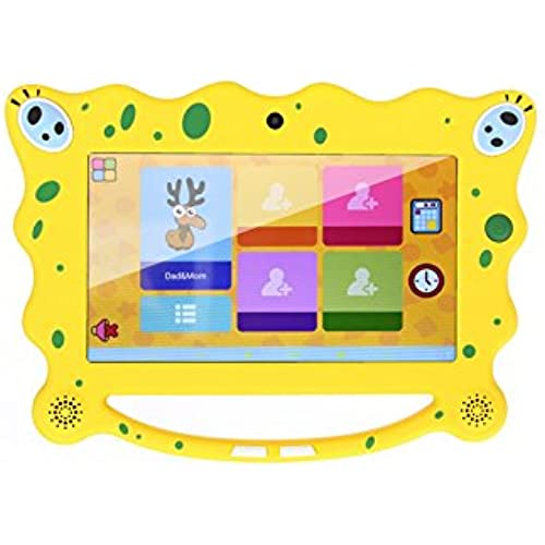 OVTECH 7'Android Kids Tablet Quad-Core with WiFi Tablets Dual Camera Kids edition Yellow Coupons