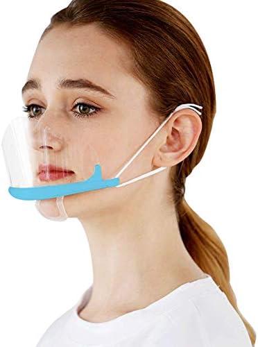 AUBIG 10 Stück Visier Gesichtsschutz Anti-Fog Transparent Sichtbares Lächeln Geeignet für Kellner Restaurants Hotels D-01