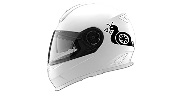 Amazon.com: Turbo Snail Cartoon Auto Car Racing Motorcycle Helmet Decal - 5