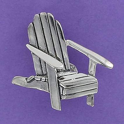 Amazon.com: Adirondack – Pin de plata de ley 925 rústica ...