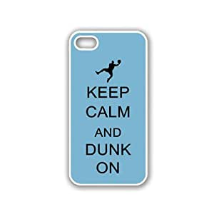 Keep Calm And Dunk On - Coral Floral - Protective Designer BLACK Case - Fits Apple iPhone 5 / 5S