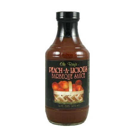 Ole Ray's Peach-A-Licious Barbecue Sauce (2 Pack of 16 Oz. Bottles)