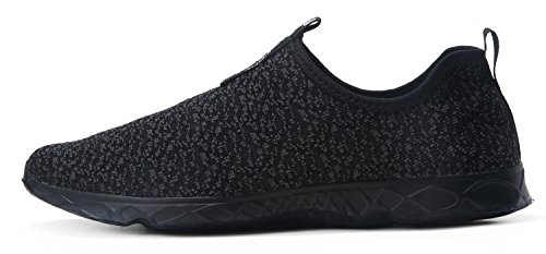 Dlgjpa Quick Women's All Black Water Aqua Shoes Drying Lightweight rRrEa