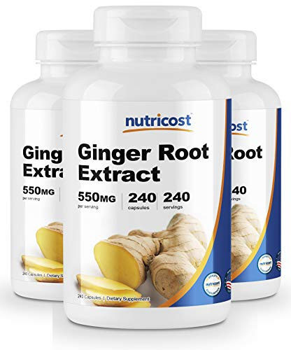 Nutricost Ginger Root Extract 550mg, 240 Capsules 3 Bottles