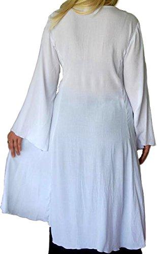 Chaqueta de manga larga blusa superior tamaño de estratificación Lagenlook M a 5X [A160] morado