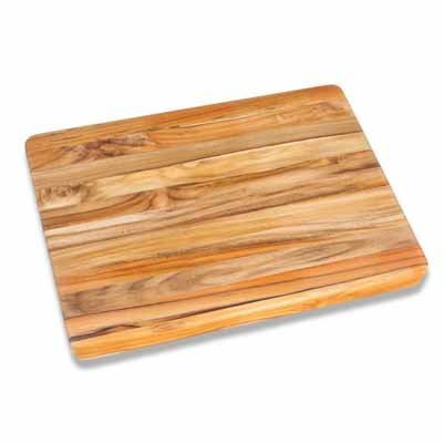 Teak Cutting Board - Rectangle Carving Board With Hand Grip (20 x 15 x 1.5 in.) - By Teakhaus by Teakhaus