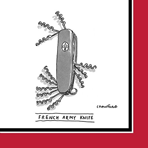 Napkin - Beverage Size 'French Army Knife' (The New Yorker)