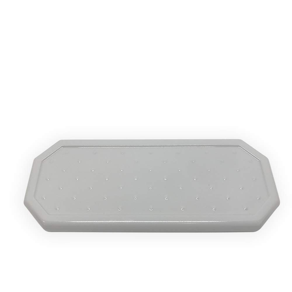 Questech Geo Small Vanity Tray Organizer | Eyeglass Tray, Jewlery Dish, Bathroom Decorative Tray (Polished Cool Gray)