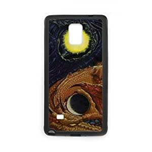 Yin Yang Dragon Samsung Galaxy Note 4 Cell Phone Case Black phone component RT_314884