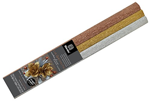 Lia Griffith Metallic Crepe Paper Roll, 10.7-Square Feet, Assorted Colors (LG11004)