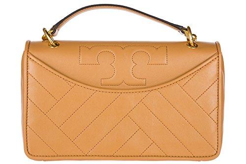 Tory Burch Alexa Leather Shoulder Bag, Aged Vachetta