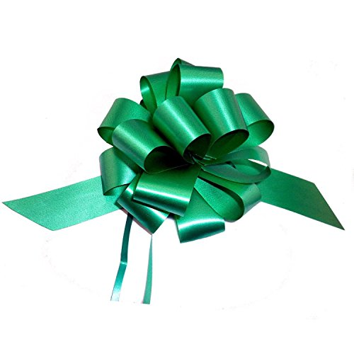 Emerald Green Decorative Gift Pull Bows - 5