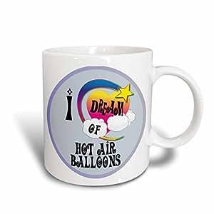 Dooni Designs Dreamer Dreaming Of Designs - Cute Girly Heart Star Clouds I Dream Of Hot Air Balloons - 15oz Mug (mug_166047_2)