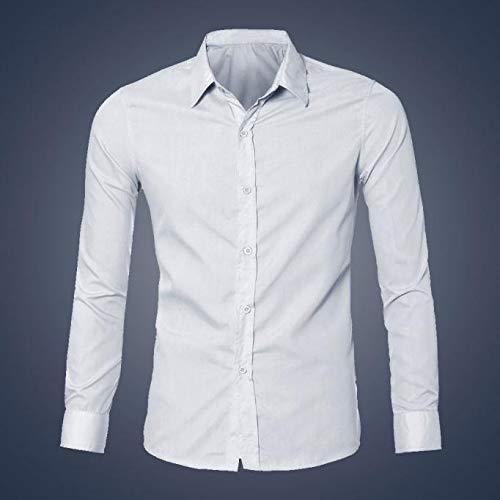 De Basic Business Top Couleur Tops Cher Fete Haut Chemise Party Soirée  Chemises For Blouse Unie Bal Longue Blanc Pour Pas Fit Homme Costume Slim  ... 4e18a1e9f94