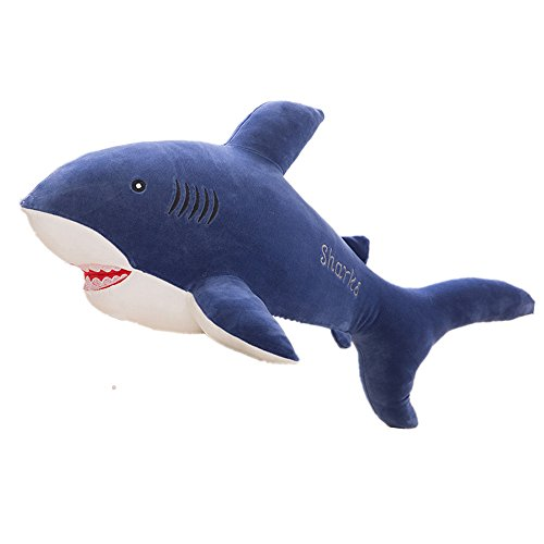 Misslight Shark Hugging Pillow Sea Animal Stuffed Toy Kids Soft Plush Animal Toy Baby Doll Soft Cushion for Boys Girls Kids Birthday Gifts(Blue 55 cm) by Misslight