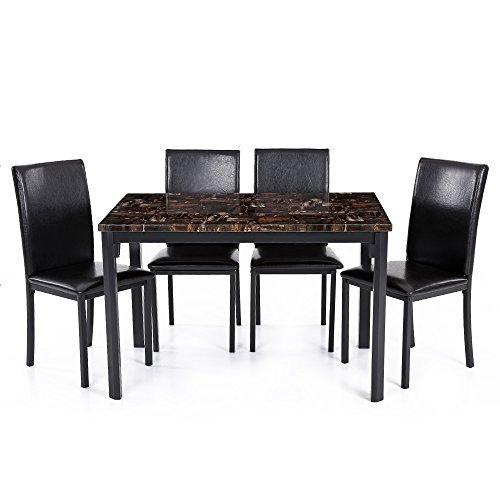 Opinioni per IKAYAA Set Tavolo Sedia Cucina Moderna Sala da