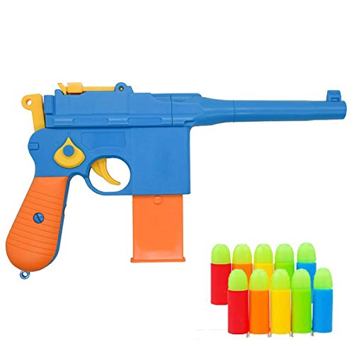 (Toy Gun,Classic Mauser c96 Colorful Toy Pistols with Set of Soft Bulles, Safe Toy Guns and Props 1:1 Replica of a Mauser C96 WWII)