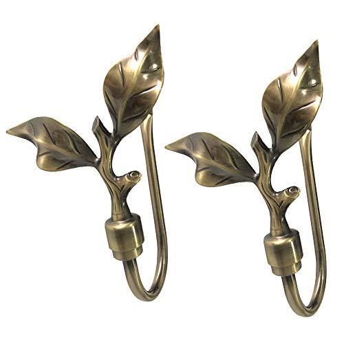 Chictie Vintage Leaves Curtain Holdbacks (Bronze) (Leaf Holdback)