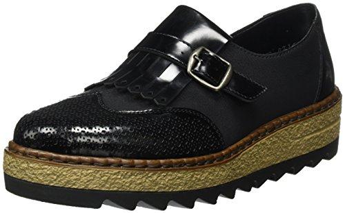 Rieker Women's 55854 Loafers, Black, 4 UK Black (Nero/Schwarz 01)