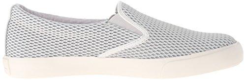 Lauren by Ralph Lauren Women's Cedar Fashion Sneaker, Platino, B(M) US Light Grey Diamond Grid Nubuck