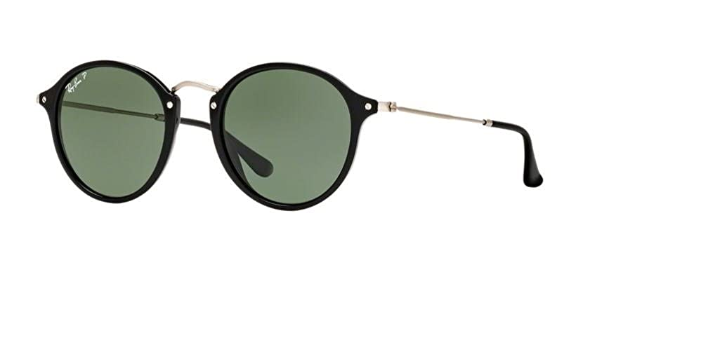 bd6ddddc6 Amazon.com: Ray Ban RB2447 ROUND/CLASSIC 901 49M Black/Green Sunglasses For  Men For Women: Clothing