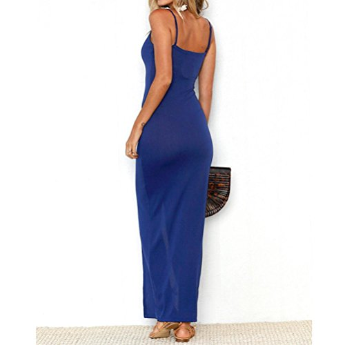 manches Womens robe manches Bleu Sexy de d't sans solides ALISIAM soire R4aqFnpdwp