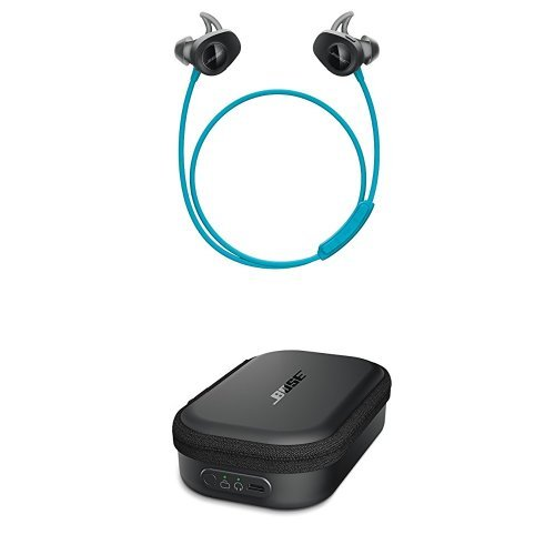 Bose SoundSport Wireless Headphones, Aqua + Charging Case