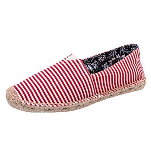 En 6 5 Taille Chaussures Toile 6 Style 5 Qiusa Plates coloré De Uk Respirante Unisexe Sport red Espadrilles wHxBt