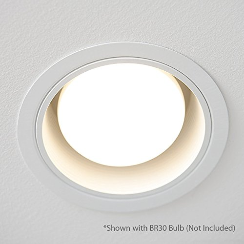 Recessed can lighting four bros lighting sb30 wht baffle trim 6 procuru 6 white baffle metal recessed can light trim for br30 38 aloadofball Gallery