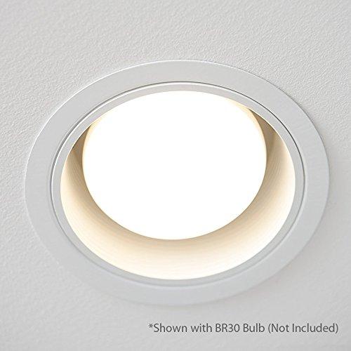 [12-Pack] PROCURU 6'' White Baffle Metal Recessed Can Light Trim - for BR30/38/40, PAR30/38/40 LED, Incandescent, CFL, Halogen (White (12-Pack)) by PROCURU (Image #5)'