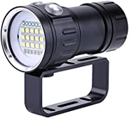 Diving Flashlight 18000 Lumen IPX8 Scuba Dive Lights 500M Underwater LED Flashlight Submersible Lights for Out