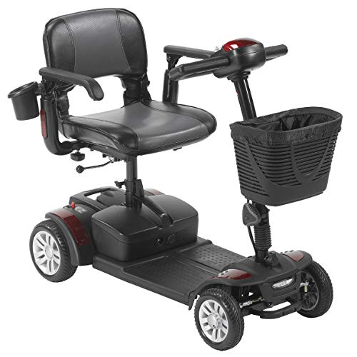 Drive Medical Spitfire Scout 4-EXT 4 Wheel Travel Power Scooter with Extended 15 Mile Range Battery ()