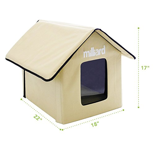 Milliard-Portable-Outdoor-Pet-House-for-Cat-Kitty-or-Puppy-Perfect-Bed-Cave-or-Shelter-22-x-18-x-17-in