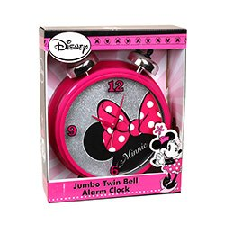 Disney Minnie Mouse Jumbo Twin Bell Alarm Clock