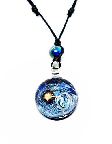Handmade Premium World and Space Glass Blown Pendant Necklace Jewelry - Model Y2017 Hand Blown Glass Pendant