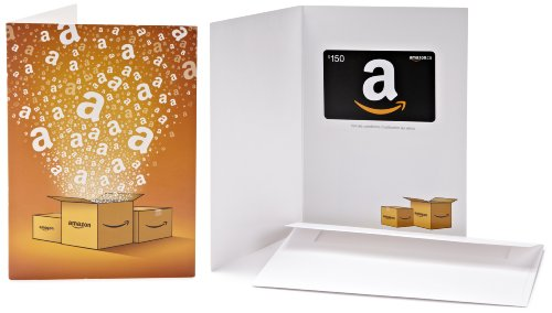Amazon.ca $150 Gift Card in a Greeting Card (Amazon Surprise Box Design)