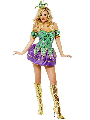 Harlequin Shine Adult Costume - (Mardigras Outfits)