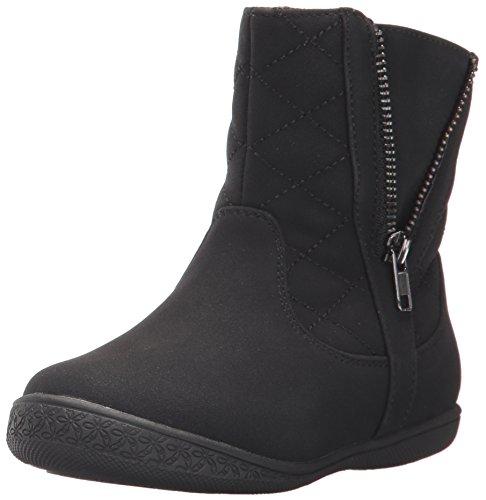 Rachel Shoes Girls' Malaga Fashion Boot, Black Suede, 9 M US Toddler