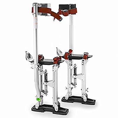 "GypTool Pro 15"" - 23"" Drywall Stilts - Silver"