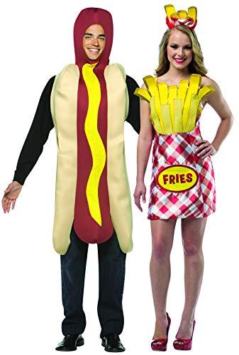 Rasta Imposta Hot Dog & French Fry Dress Couples Costume Set red]()
