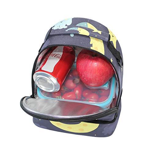 Bolsa de escuela con Alinlo ajustable el para almuerzo correa hombro la aislada de pincnic para TOwwqdF
