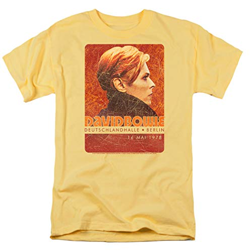 David Bowie Stage Tour Berlin '78 T Shirt & Stickers, Banana Color, S to 3XL